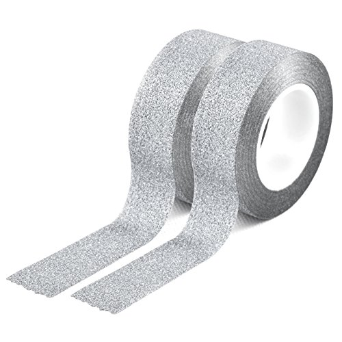 2er-Set YOUZINGS Washi Masking Tape in Farbe silber, Masking Tape, Washi Tape, Klebeband, Marke Youzings