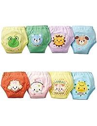 Pantalones de entrenamiento de orinal - SODIAL(R) 4 x pantalones bonitos de entrenamiento de orinal reutilizables de 4 capas impermeables de bebe nino chicos 2-3 anos