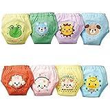 Pantalones de entrenamiento de orinal - TOOGOO(R) 4 x pantalones bonitos de entrenamiento de orinal reutilizables de 4 capas impermeables de bebe nino chicos 1-2 anos