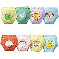 Pantalones de entrenamiento de orinal - TOOGOO(R) 4 x pantalones bonitos de entrenamiento de orinal reutilizables de 4 capas impermeables de bebe nino chicos 3-4 anos