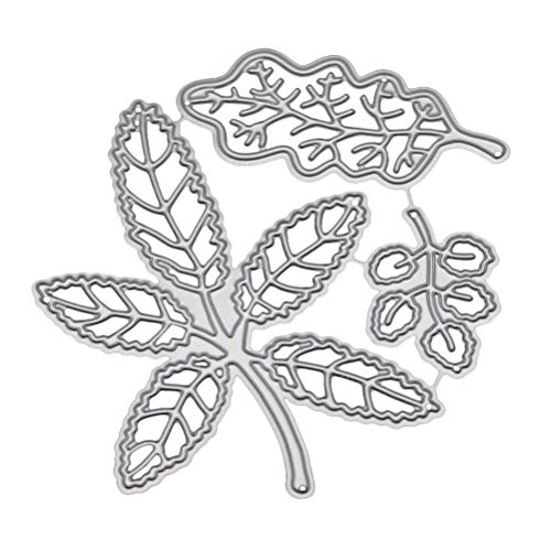 Healifty DIY Blätter schneiden Diesmetal Schablone Schablone Prägeschablone für Album Scrapbooking Papier Karte Kunst Handwerk Dekor -