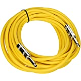 Seismic Audio SASTSX-25Yellow-6PK 25-Feet TS 1/4-Inch Guitar, Instrument, or Patch Cable, Yellow