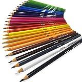 Giotto Elios triangulaire Bois gratuit Crayons de couleur–Lot de 24couleurs assorties