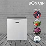 Bomann KB 389 Mini-Kühlschrank / A++ / 51 cm Höhe / 84 kWh/Jahr / 42 Liter Kühlteil / regelbarer Thermostat / Kühlmittel R600a silber - 9
