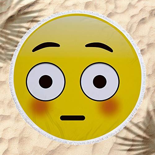 xkjymx Toalla de Playa Emoji Decorativa Colgar Tela Envoltura de Tela C 160 * 160