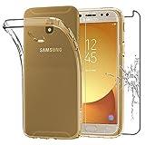 ebestStar - Cover Samsung Galaxy J7 2017 SM-J730F Custodia TRASPARENTE Silicone Gel TPU Protezione MORBIDA e SOTTILE, Trasparente + Pellicola VETRO Temperato [Dimensioni PRECISE dell'apparecchio : 152.4 x 74.7 x 7.9 mm, schermo 5.5''] [Nota Importante Leggere Descrizione]