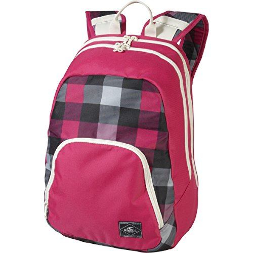 O´Neill AC Wedge Backpack - Mochila, color rosa con cuadros blancos y negros