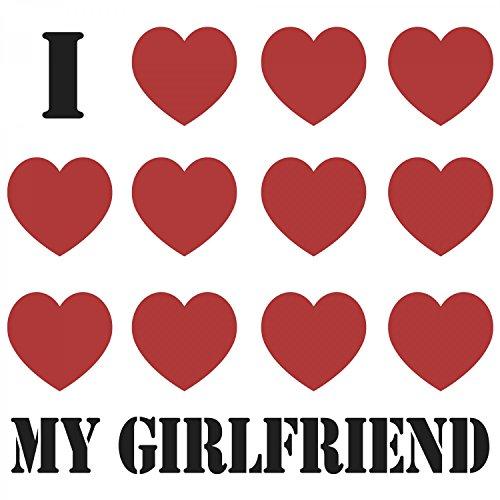 Fashionalarm Herren TShirt I Love My Girlfriend Fun Shirt Mit Spruch Als  Valentinstag Jahrestag Geschenk Idee Für Verliebte Paare Weiß