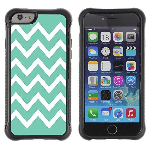 Graphic4You Chevron Muster Shockproof Anti-Rutsch Weichen Hülle Case Tasche Schutzhülle für Apple iPhone 6 / 6S (Rosa) Bleu Aqua