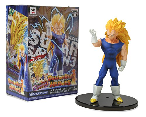 "Banpresto Dragon Ball Heroes Figure with Card 6"" Super Saiyan Vegeta Action Figure"