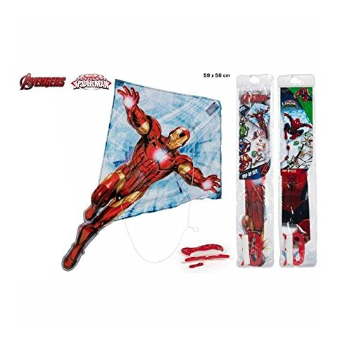 ColorBaby Cometa de Nylon con motivo The Avengers/Spiderman 59x56 cms (43492)