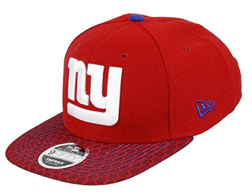 York Giants-football-hut New (New Era - New York Giants - 9fifty Snapback - Nfl 17 Onfield - Red - S-M (6 3/8 - 7 1/4))
