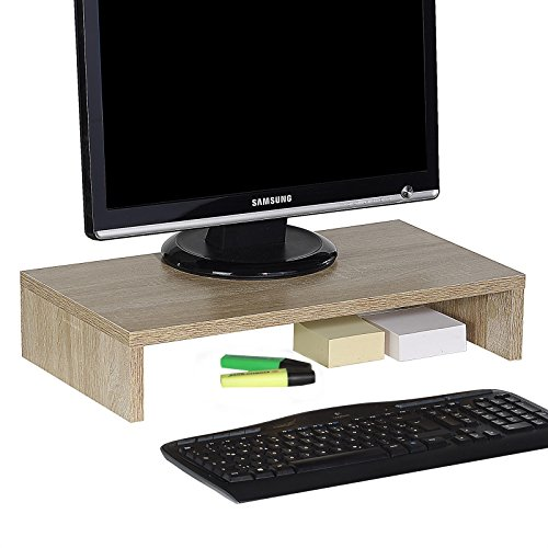 CARO-Möbel Monitorständer Monitor Schreibtischaufsatz Bildschirmerhöhung in Sonoma Eiche 50 x 10 x 27 cm (B x H x T) -