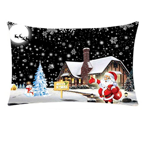 AMUSTER Kissenbezug kissenhülle Fröhliche Weihnachten Rechteckig Weihnachten Kissenbezug Sofa Bett Home Decor Kissen Fall Kissenhülle für Zuhause (Halloween Benutzerdefinierte Muster)