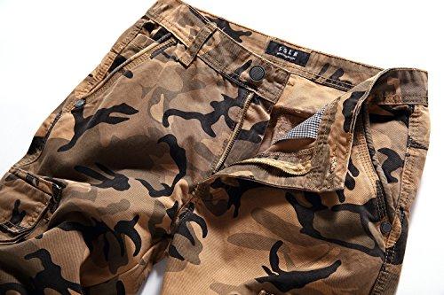 SSLR Herren Sommer Baumwolle Cargoshorts Khaki Camouflage
