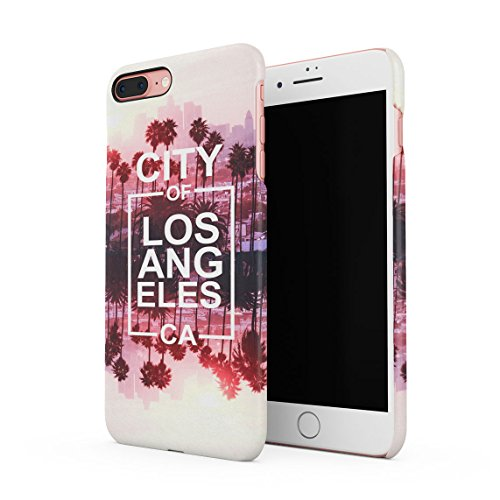 Black L.A. Logo Los Angeles USA City Of Angels Cali California Dünne Rückschale aus Hartplastik für iPhone 7 Plus & iPhone 8 Plus Handy Hülle Schutzhülle Slim Fit Case cover City Of CA