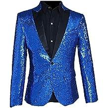 Blazer Men Coat Blazer Elegante La Boda De Smoking Slim Fit con Lentejuelas Mode De Marca