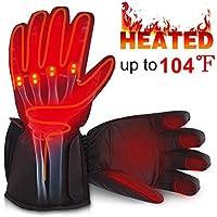 0cb237ac27ef6a Svpro Unisex Touchscreen SMS Akku beheizte Handschuhe Kit, Wasserdichte  Winter warme Thermische Handschuhe für Outdoor