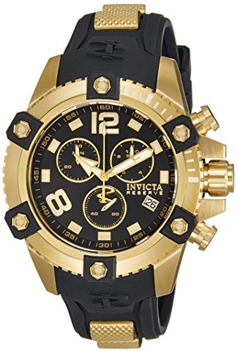 gold-tone-stainless-steel-case-reserve-arsenal-chronograph-black-dial-date-display-rubber-strap