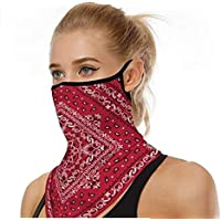 SuperX Unisex Bandana Face Mask reusable washable cycling fabric cloth face covering and dust protection mask Neck Gaiter Women Men