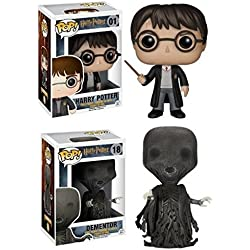 Funko POP! Harry Potter: Harry Potter con el uniforme de Hogwarts + Dementor