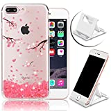 Search : For iPhone 7 Plus Bling Diamond Case,Pink Cherry Blossoms Petal Printing Pattern Soft TPU Case For iPhone 7 Plus,Vandot Anti-Scratch Slim Fit Case For iPhone 7 Plus 5.5 inch+Multi-Angle Phone Holder