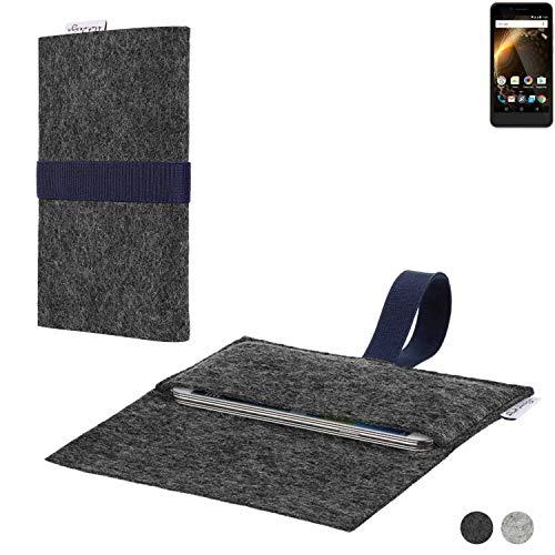 flat.design Handy Hülle Aveiro für Allview P6 Energy Mini passgenaue Filz Tasche Case Sleeve Made in Germany