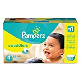 Pampers Swaddlers Diapers, Size 4: 22 - 37 lbs, 116/Carton by Pampers