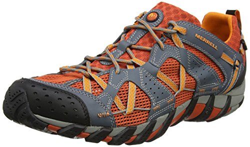 Merrell Waterpro Maipo, Scarpe da Arrampicata Uomo, (Dark Grey/Spicy Orange), 47 EU