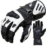 Motorradhandschuhe Summer PROANTI Motorrad Handschuhe (Gr. M - XXL, Weiß)