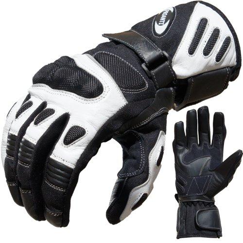 *Motorradhandschuhe Summer PROANTI® Motorrad Handschuhe (Gr. M – XXL, Weiß)*