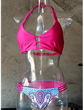Split bañador bañador _ bisutería flor moderno y cómodo dividir bikini swimsuit traje de baño bikini, mejor serie...