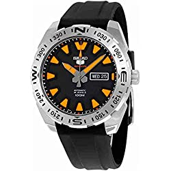 Seiko 5 Sports srp741 K1 - Analog - Watch Men - Automatic - black dial - Black Rubber Strap