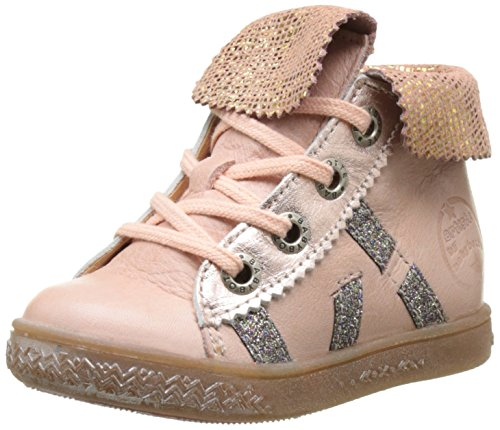 Babybotte Artimiss, Baskets Hautes Fille Orange (Peche)