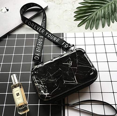 Marmor-Kosmetiktasche,Koffer Handtasche Kleine Kosmetiktasche Reise-Hartschalen-Gepäck-Kosmetiktasche