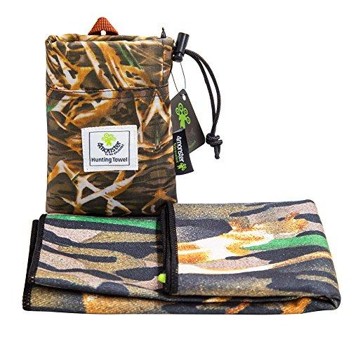 4Monster Outdoor Handtuch mit Camouflage Muster, Mikrofaser, Größe 30 x 80 cm (Real Tree B)