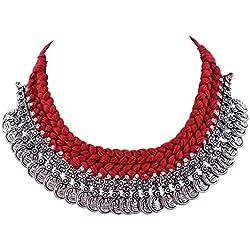 Shree Shyam Handicraft Thread Coin Pendant Necklace