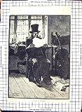 Instrument de Musique Antique Rickelt de Papier de Lecture de Vieil Homme de l'Impression 1886