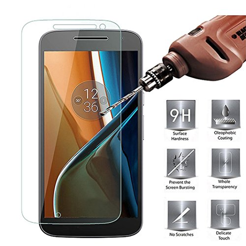 Kit Me Out IT Proteggi Schermo in Vetro Temperato 9H per Motorola Moto G4 Play - Trasparente