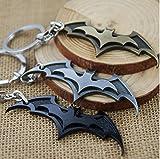 #6: SmallAll Silver Batman Classic Logo Keyring & Keychain
