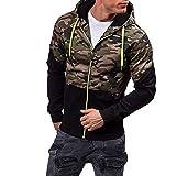 Sweatjacke Herren Pullover mit Kapuze, Kanpola Fitness Slim Fit Jacke Hoodie Sweatshirt Pulli Shirt Kapuzenpullover