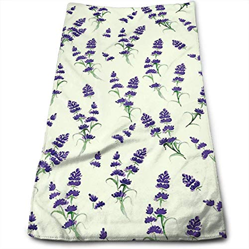 WBinHua Microfaser Handtücher, Sporthandtuch, Hand Towels, Hair Towel, Beauty Towel, Brake Towel, Furniture Towel, Lavender Flowering Fragrant Pale Plant The Towels of Soft,Quick Dry and Absorbent. -