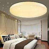 VGO® LED 50W Sternenhimmel Rund Deckenlampe Warmweiß Wand-Deckenleuchte 4750lm Badlampe Panel Lampe