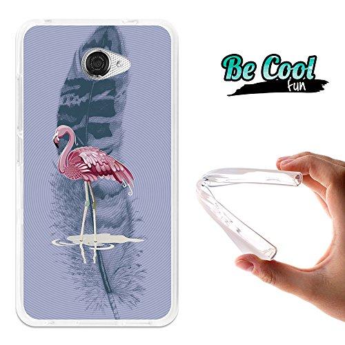 Becool® Fun - Funda Gel Flexible para Vodafone Smart Ultra 7, Carcasa TPU fabricada con la mejor Silicona, protege y se adapta a la perfección a tu Smartphone y con nuestro exclusivo diseño. Flamenco rosa