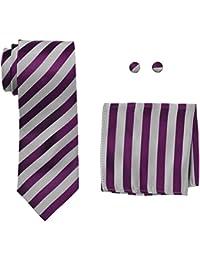 Landisun Stripe, Set de Cravates Homme