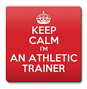 KEEP CALM I'm an Athletic trainer Coaster - Coffee Cup Gift Idea present jobs