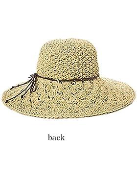 Ourdream Sombrero de paja Sombrero de la playa del borde grande Sombrero de Sun Mujeres , beige