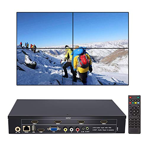 ToQuYue Video Wall Processor TV LCD Monitor Wall Controller Multi Input  HDMI Ouput Screen segmentation & reassembly 2x2, 1x2, 1x3, 1x4