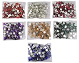 Round Multicolor Kundan Stones Crystal Edged Pastable for Jewellery Making/Decoration & Crafts !! Pack of 350 Stones 6mm - Multicolor