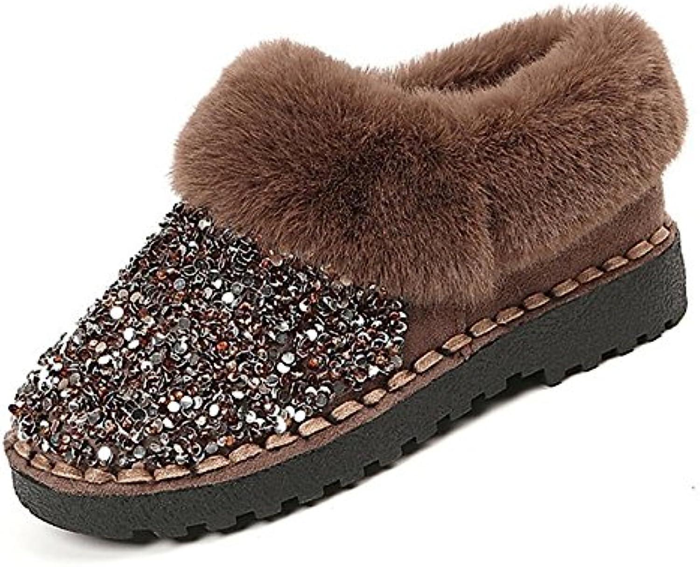 HSXZ Scarpe donna Nubuck Pelle scamosciata PU Autunno Inverno Comfort Comfort Comfort Snow stivali stivali tacco piatto Round Toe... | Lascia che i nostri prodotti vadano nel mondo  5e22b0